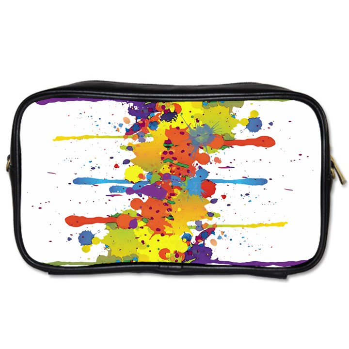 Crazy Multicolored Double Running Splashes Toiletries Bags