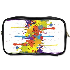 Crazy Multicolored Double Running Splashes Toiletries Bags 2 Side