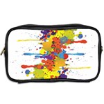 Crazy Multicolored Double Running Splashes Toiletries Bags 2-Side Back