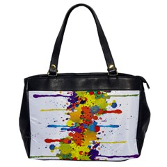 Crazy Multicolored Double Running Splashes Office Handbags