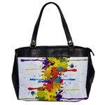 Crazy Multicolored Double Running Splashes Office Handbags Front