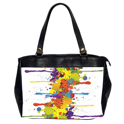 Crazy Multicolored Double Running Splashes Office Handbags (2 Sides)