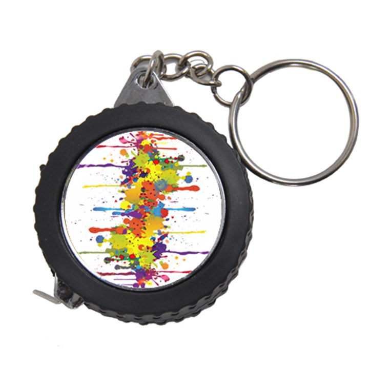 Crazy Multicolored Double Running Splashes Measuring Tapes