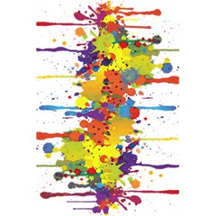 Crazy Multicolored Double Running Splashes 5.5  x 8.5  Notebooks