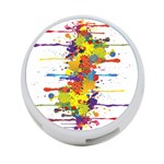 Crazy Multicolored Double Running Splashes 4-Port USB Hub (Two Sides)  Back