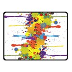 Crazy Multicolored Double Running Splashes Fleece Blanket (Small) 50 x40 Blanket Front