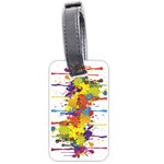Crazy Multicolored Double Running Splashes Luggage Tags (Two Sides) Front
