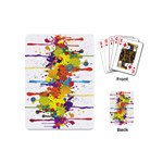 Crazy Multicolored Double Running Splashes Playing Cards (Mini)  Back