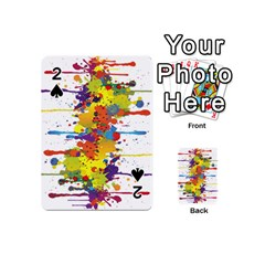 Crazy Multicolored Double Running Splashes Playing Cards 54 (Mini)