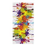 Crazy Multicolored Double Running Splashes Shower Curtain 36  x 72  (Stall)  33.26 x66.24 Curtain