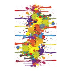 Crazy Multicolored Double Running Splashes Shower Curtain 48  x 72  (Small)