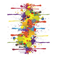 Crazy Multicolored Double Running Splashes Shower Curtain 60  x 72  (Medium)