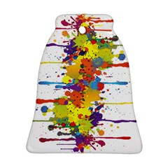 Crazy Multicolored Double Running Splashes Ornament (Bell)
