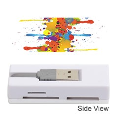 Crazy Multicolored Double Running Splashes Memory Card Reader (Stick)
