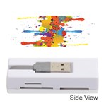 Crazy Multicolored Double Running Splashes Memory Card Reader (Stick)  Front