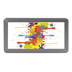 Crazy Multicolored Double Running Splashes Memory Card Reader (Mini)