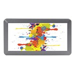 Crazy Multicolored Double Running Splashes Memory Card Reader (Mini) Front