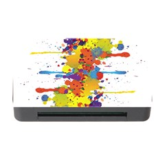 Crazy Multicolored Double Running Splashes Memory Card Reader With Cf