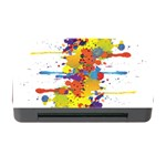 Crazy Multicolored Double Running Splashes Memory Card Reader with CF Front