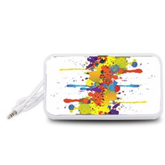 Crazy Multicolored Double Running Splashes Portable Speaker (white)