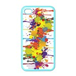 Crazy Multicolored Double Running Splashes Apple iPhone 4 Case (Color) Front