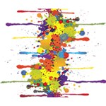 Crazy Multicolored Double Running Splashes Deluxe Canvas 14  x 11  14  x 11  x 1.5  Stretched Canvas