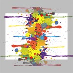 Crazy Multicolored Double Running Splashes Deluxe Canvas 16  x 12   16  x 12  x 1.5  Stretched Canvas