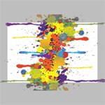 Crazy Multicolored Double Running Splashes Deluxe Canvas 18  x 12   18  x 12  x 1.5  Stretched Canvas