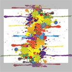 Crazy Multicolored Double Running Splashes Deluxe Canvas 24  x 20   24  x 20  x 1.5  Stretched Canvas