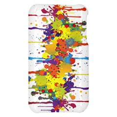 Crazy Multicolored Double Running Splashes Apple iPhone 3G/3GS Hardshell Case