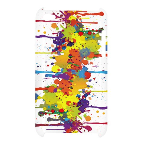 Crazy Multicolored Double Running Splashes Apple iPod Touch 4
