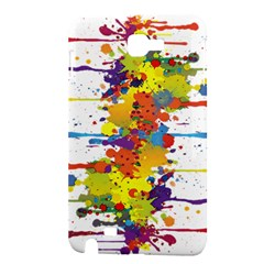 Crazy Multicolored Double Running Splashes Samsung Galaxy Note 1 Hardshell Case