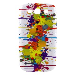 Crazy Multicolored Double Running Splashes Samsung Galaxy S III Hardshell Case