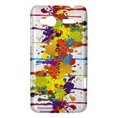 Crazy Multicolored Double Running Splashes HTC Radar Hardshell Case