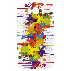 Crazy Multicolored Double Running Splashes HTC Sensation XL Hardshell Case