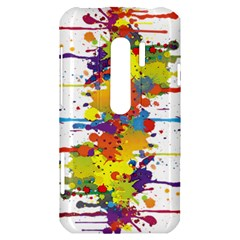 Crazy Multicolored Double Running Splashes HTC Evo 3D Hardshell Case