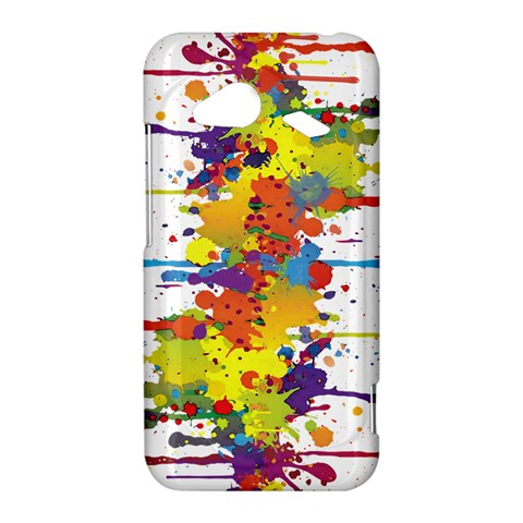 Crazy Multicolored Double Running Splashes HTC Droid Incredible 4G LTE Hardshell Case