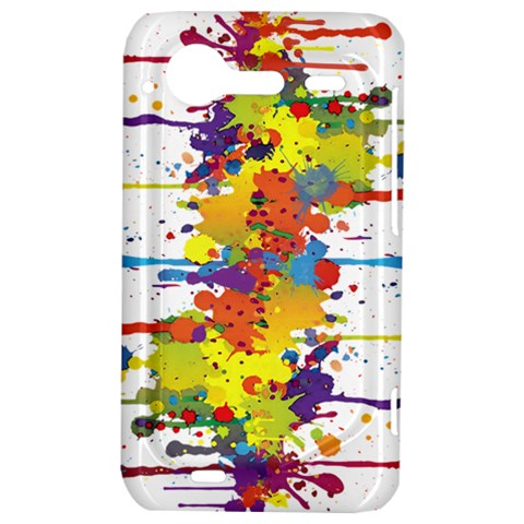 Crazy Multicolored Double Running Splashes HTC Incredible S Hardshell Case