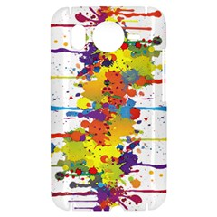 Crazy Multicolored Double Running Splashes HTC Desire HD Hardshell Case