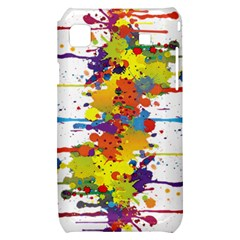 Crazy Multicolored Double Running Splashes Samsung Galaxy S i9000 Hardshell Case