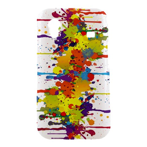 Crazy Multicolored Double Running Splashes Samsung Galaxy Ace S5830 Hardshell Case