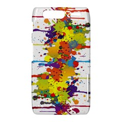 Crazy Multicolored Double Running Splashes Motorola Droid Razr XT912