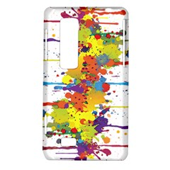 Crazy Multicolored Double Running Splashes LG Optimus Thrill 4G P925
