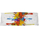 Crazy Multicolored Double Running Splashes Body Pillow Case Dakimakura (Two Sides) Back