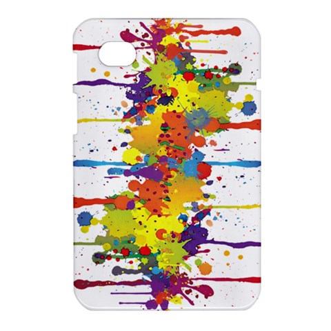 Crazy Multicolored Double Running Splashes Samsung Galaxy Tab 7  P1000 Hardshell Case