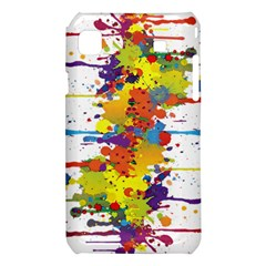 Crazy Multicolored Double Running Splashes Samsung Galaxy S i9008 Hardshell Case