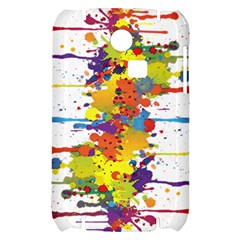 Crazy Multicolored Double Running Splashes Samsung S3350 Hardshell Case