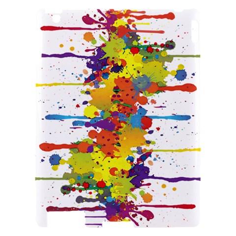 Crazy Multicolored Double Running Splashes Apple iPad 2 Hardshell Case