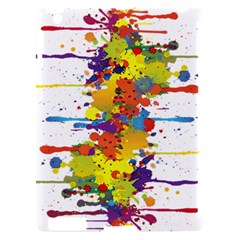 Crazy Multicolored Double Running Splashes Apple iPad 2 Hardshell Case (Compatible with Smart Cover)