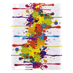 Crazy Multicolored Double Running Splashes Apple Ipad 3/4 Hardshell Case